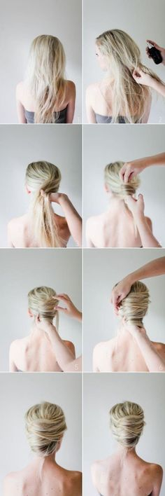 DIY Hair Bun, I think my hair is probably too thick for this, but worth a try