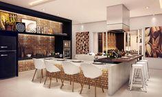 cozinha gourmet pequena com churrasqueira - Pesquisa Google