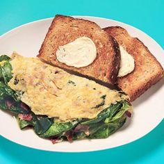 Spinach & Bacon Omelet - Fitnessmagazine.com