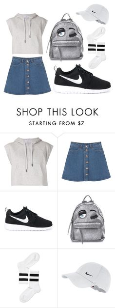 """School outfit"" by irisjwang on Polyvore featuring adidas, Monki, NIKE and Chiara Ferragni"