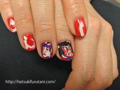The work of nail art by hatsuki furutani, a Tokyo based manicurist http://hatsukifurutani.com/ http://instagram.com/hatsukifurutani# http://ams-ebisu-place.blogspot.jp/ http://hatsukifurutani.tumblr.com/ #nail, #nails, #nailart, #naildesign, #beauty, #makeup, #fashion, #art, #nailaddict, #polish, #manicure, #manicurist, #creepy, #weired, #japan, #kabuki