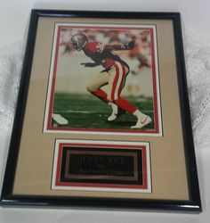 Collectible Jerry Rice Framed Photo Plaque Numbered Collectible Retro Jerry Rice…