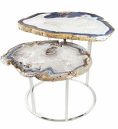 I love this unique agate coffee table by Matthew Studios!