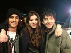 Hailee Steinfeld and Asa Butterfield with Avan Jogia