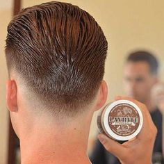 New Undercut Slicked Back Men Hairstyle