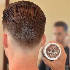 New Undercut Slicked Back Men Hairstyle