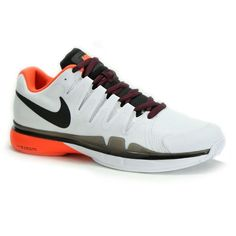 Nike Zoom Vapor 9.5 Tour Men's Tennis Shoe, White/Total Crimson/University  Red