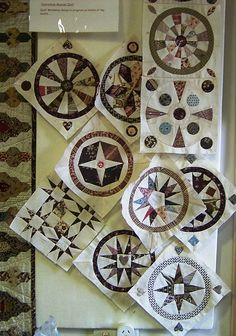 Jane Quilt dated 1860 and by Jane Pizar. Circle Quilt Patterns, Circle Quilts, Paper Piecing Patterns, Quilt Blocks, Old Quilts, Antique Quilts, Vintage Quilts, Mini Quilts, Dear Jane Quilt