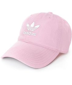 The adidas pink baseball hat for women is the perfect accessory to finish off any casual look. This baseball cap is crafted with a pure cotton construction in a light pink colorway, fi