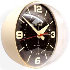 Newgate Bubble Wall Clock - cream ball shaped character timepiece