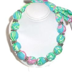 Fabric Necklace Choker made with Lilly Pulitzer by xoribbons, $20.00-Here's another one in a different color and print! So cute!