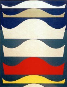 Poster 70 x 90 cm: Farbige Abstufung by Sophie Taeuber-Arp / akg ...