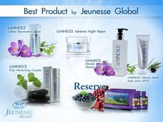 "Jeunesse Global World Class Anti-Aging & Nutritional Products. Available in 85 Countries! Adult Stem Cell technology and DNA repair. ""Youthful Aging"" Also, Real Superfruits for Better Health. www.CellCareForYou.Jeunesseglobal.com Best prices as Preferred Customer or Distributor. Contact Us."
