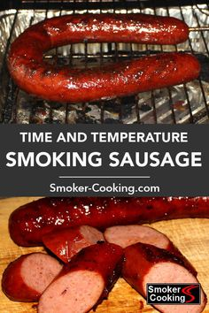 How Long To Smoke Sausage That's Safe to Eat But Still Juicy Find out how long it takes to smoke sausages. Removing the sausage from the smoker at the correct internal temperature ensures moist and delicious eating. Smoked Sausage Recipes, Homemade Sausage Recipes, Grilled Sausage, Smoked Sausages, Grilled Kielbasa, Smoker Grill Recipes, Grilling Recipes, Pork Recipes, Barbecue Recipes