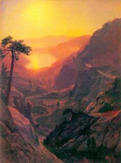 """Donner Lake by Bierstadt""  Artist:  Albert Bierstadt"