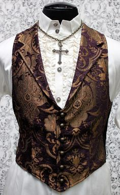 VICTORIAN ARISTOCRAT VEST - PURPLE/GOLD TAPESTRY