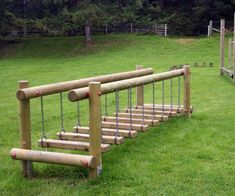 Wobble Step Bridge | Outdoor byplay fun for play parks and agility trails.