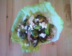 Roasted Brussels Sprout & Goat Cheese Salad