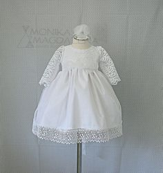Luxury girls dress for baptism  three-piece by MonikaMagdalenaHM