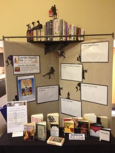 "2013 Adult Summer Reading Program Display.  ""Breaking Ground""   Bedford Branch Library  Temperance, Mi"
