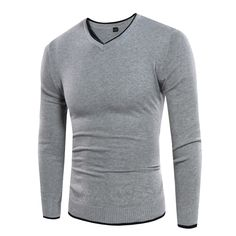 Cheap cotton sweater men, Buy Quality fashion men sweater directly from China men fashion sweater Suppliers: 2017 Autumn Winter New Pullover Cotton Sweaters Men Jumper Fashion V neck Solid color Knitwear Pull Homme Slim Men Sweaters Casual Sweaters, Casual Shirts, Mens Knit Sweater, Mens Pullover, Pullover Sweaters, Jumper, Style Simple, Basic Style, Branded Shirts