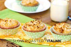 Hawaiian Muffins: Pineapple, Banana, Coconut and Macadamia Nuts! TWO POST TUESDAY