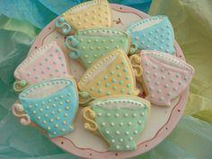 Teacup cookies for a tea.