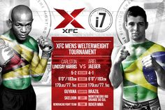 The Welterweight Season II Tournamen begins at XFCi 7 on November 1st. The quarterfinal bracket features a Latin American matchup between Carlston Lindsay Harris and Ariel Jaeger, who will both make their XFC debut inside the HeXagon at the São Paulo Futebol Clube Gymnasium.