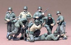 US Infantry Euro Theater Soldier Set -- Plastic Model Military Figure Kit -- Scale -- Tamiya Model Kits, Tamiya Models, Military Figures, Military Diorama, Plastic Model Kits, Plastic Models, Us Army Infantry, Plastic Soldier, Old Things