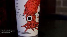 from my twitter @proxydata, @Starbucks Loves Loves #whitecupcontest #squid design macro shot of left side: pic.twitter.com/lFCWG7R2Hz