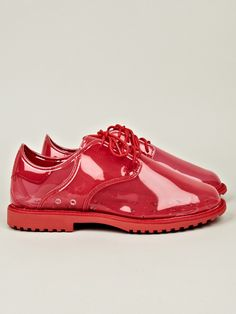 Adidas x Opening Ceremony OC Dress Rubber Shoe in red at oki-ni