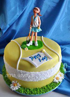 Tennis Cake cakepins.com