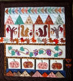 Julie Bagamary Art: Fall Quilted Wall Hanging Art For Sale