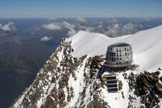Futuristic Steel Lodge Offers Refuge for Climbers Braving Mount Blanc - My Modern Met