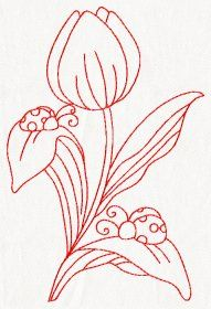 Country Redwork - set of 10 embroidery designs - 4 sizes - $9.95 : Fairyland Embroidery Designs and Appliques