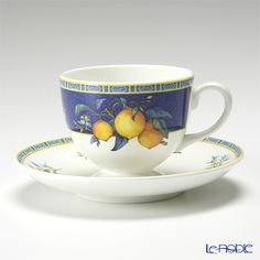 Wedgwood citron tea cup and saucer (Lee)