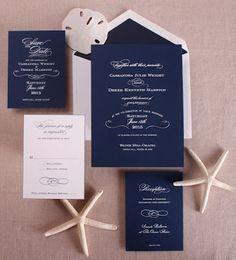 William Arthur Blog   The Signature Of Fine Stationery: Wedding   Nautical Navy