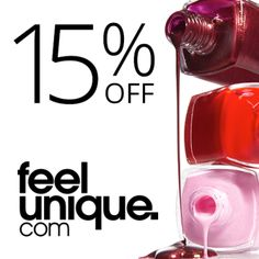 Use my link to get 15% off your first order at feelunique.com, the destination for beauty. You're welcome!