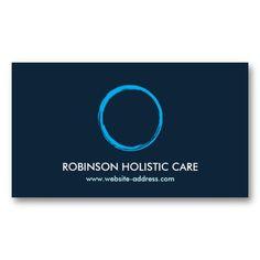 Holistic, Naturopath, Healer, Zen Logo II Business Card