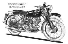 List your Vincent parts forsale or wanted right here for free! The most desirable motorcycle in the world! The Vincent Black Lightning! A piece of exclusive motorcycle history ! Motorcycle Engine, Motorcycle Art, Motorcycle Design, Vintage Bikes, Vintage Motorcycles, Retro Vintage, Vincent Black Shadow, Vincent Motorcycle, Automotive Art