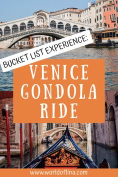 A gondola ride in Venice is something that should be on everyone's bucket list! Read everything about my experience here. #venezia #venice #italy #europe | Travel to Venice | Italy Travel | Europe Travel Italy Packing List, Italy Travel Tips, Europe Travel Guide, Italy Destinations, Best Travel Guides, Visit Italy, Northern Italy, Amalfi Coast, Venice Italy
