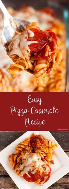 Love pizza and pasta? This easy pizza casserole is the perfect blend of both worlds!