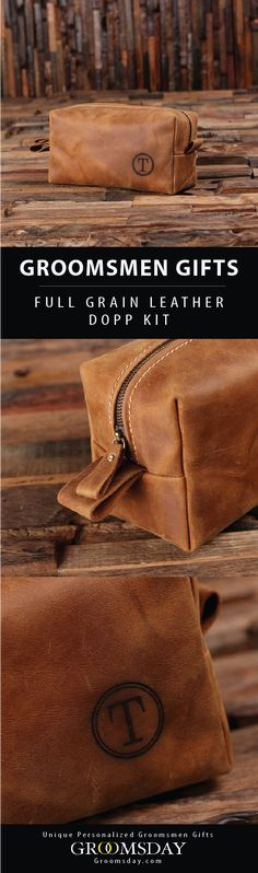 Hand-crafted from 100% genuine leather, this rugged dopp kit will stand the test of time and makes a perfect groomsmen gift or men's gift for any occasion.  Check out our huge selection of Groomsmen Gifts, Best Man Gifts, Groom accessories, Gifts for Men, Birthday Gifts, Father of the Bride Gifts, Father's Day Gifts, Anniversary Gifts, Monogrammed Gifts, Valentines Gifts, Sports & Golf Gifts & More! Share & Repin! Only from Groomsday || Groomsday.com #toiletrybag #doppkit #groomsmen #giftideas Best Groomsmen Gifts, Groomsman Gifts, Groom Accessories, Dopp Kit, Best Gifts For Men, Golf Gifts, Monogram Gifts, Toiletry Bag, Bride Gifts