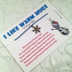 Set of 5 Frozen Wish Bracelets  Frozen Party Favors by HauteCharms, $17.50