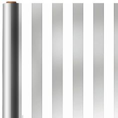 Jumbo Silver Stripe Gift Wrap 12ft