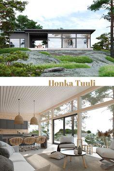Self Build House Kits, Self Build Houses, Modern Barn House, Timber House, Small House Design, Cottage Design, Log Cabins For Sale, Log Home Kits, Log Cabin Homes