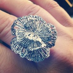 Geneve Lace Ring by Stella & Dot. Modeled after a real piece of vintage lace.
