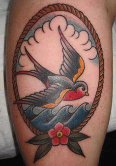 Mark-Lonsdale-Tattoo-Bondi-Sydney-Traaditional-Swallow-Waves-Flower