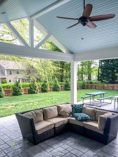 Covered Porch Photos - Charlotte Decks and Porches, LLC Patio Addition, Decks And Porches, Patio Design, Porch Design, Backyard Pavilion, Screened Porch Designs, Outdoor Furniture Ideas Backyards