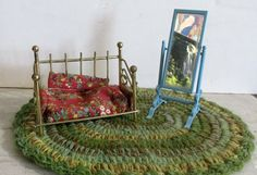 Retro Metal Doll House Furniture Miniature Dressing by